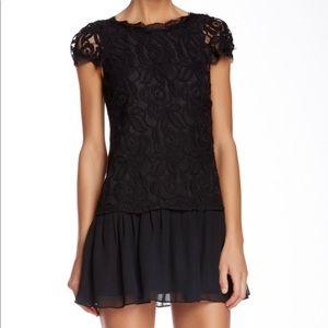 BCBGeneration Lace Drop Waist Dress
